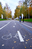 Bicycle road Royalty Free Stock Photography