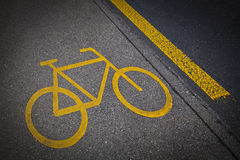 Bicycle road mark Stock Image