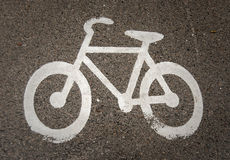 Bicycle road marking Royalty Free Stock Images