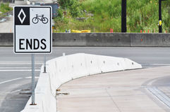 Bicycle road is over Stock Images