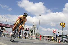 BICYCLE ROAD RACE. The 46th edition of the Presidential Tour of Turkey started on a high note in Istanbul. For the first time, the race had an inaugural time Stock Photography