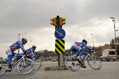 BICYCLE ROAD RACE. The 46th edition of the Presidential Tour of Turkey started on a high note in Istanbul. For the first time, the race had an inaugural time Royalty Free Stock Image