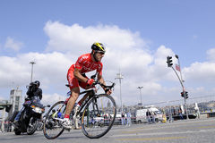 BICYCLE ROAD RACE. The 46th edition of the Presidential Tour of Turkey started on a high note in Istanbul. For the first time, the race had an inaugural time Royalty Free Stock Photos