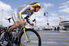 BICYCLE ROAD RACE. The 46th edition of the Presidential Tour of Turkey started on a high note in Istanbul. For the first time, the race had an inaugural time Royalty Free Stock Images