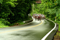 Bicycle road race. A Bicycle road race image Royalty Free Stock Photos