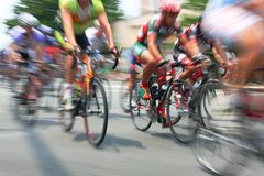 Bicycle Road Race Royalty Free Stock Image