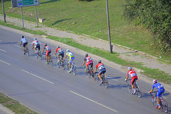 Bicycle road race Stock Photography