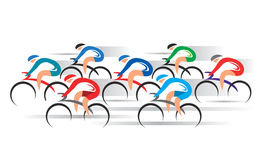 Bicycle Road Racers. Stock Images