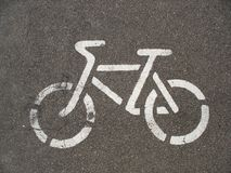 Bicycle road sign Royalty Free Stock Photography