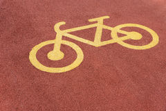Bicycle road sign Stock Image