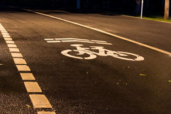 Bicycle road. Sign and arrow Stock Image
