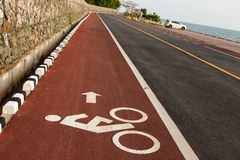Bicycle road sign Stock Images