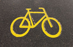 Bicycle road sign Royalty Free Stock Image