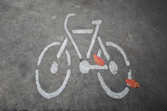Bicycle Road Sign. For background Stock Photos