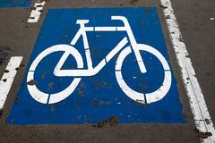 Bicycle Road Sign. And symbol Stock Images
