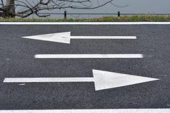 Bicycle road sign, bike lane Royalty Free Stock Image