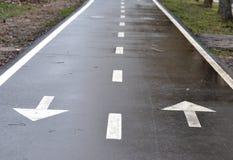 Bicycle road sign, bike lane Royalty Free Stock Photography