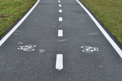 Bicycle road sign, bike lane Stock Photography