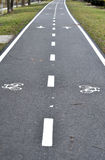 Bicycle road sign, bike lane Stock Photo