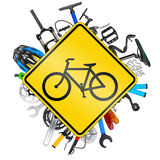 Bicycle road sign concept Stock Image