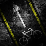 Bicycle road sign grunge background textured Royalty Free Stock Photography