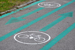 Bicycle road signs Stock Photography
