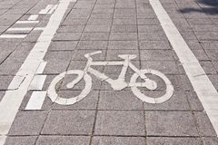 Bicycle road sing Stock Images