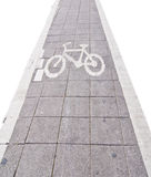 Bicycle road sing on white isolate Royalty Free Stock Photography