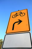 Bicycle road street sign Royalty Free Stock Photo