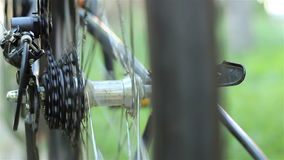 Bicycle Roller Chain and Gears stock footage