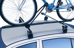 Bicycle roof rack Royalty Free Stock Photography