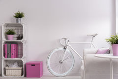 Bicycle in a room Royalty Free Stock Images