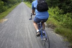 Bicycle route Royalty Free Stock Photography