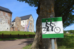 Bicycle route in Aland Islands. Stock Photos