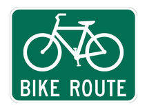 Bicycle Route Guide Royalty Free Stock Images