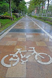 Bicycle route sign Stock Photography