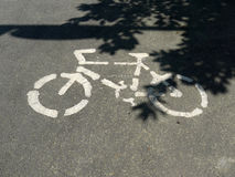 Bicycle route sign Royalty Free Stock Images