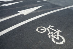 Bicycle route sign Stock Photo