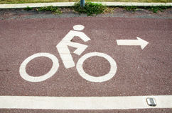Bicycle route sign Royalty Free Stock Image