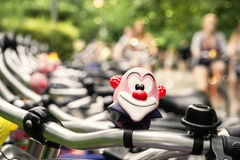 Bicycle row in a park Stock Photography