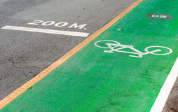 Bicycle and running lane. Stock Photo
