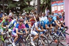 Bicycle's race starting. Giro d'Italia 2008, Sondrio-Locarno Royalty Free Stock Images