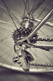 Bicycle's rear wheel Royalty Free Stock Image