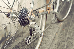 Bicycle's rear wheel Stock Images