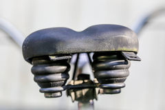 Bicycle saddle. A saddle seat of an old bicycle Stock Photo