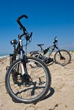 Bicycle on a sand Stock Image