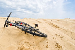 Bicycle in sands Royalty Free Stock Photos