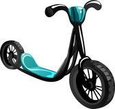 Bicycle scooter. Vector Illustration Stock Images