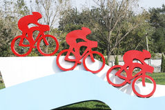 Bicycle sculpture Stock Photos