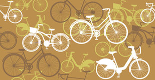 Bicycle Seamless Pattern. Various bicycles seamless pattern. retro style Royalty Free Stock Photo